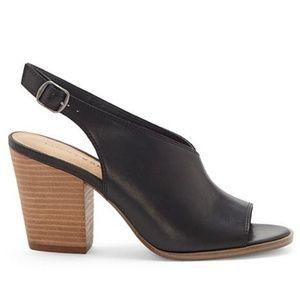 NWOT Lucky Brand Black Ovrandie Slingback Heel